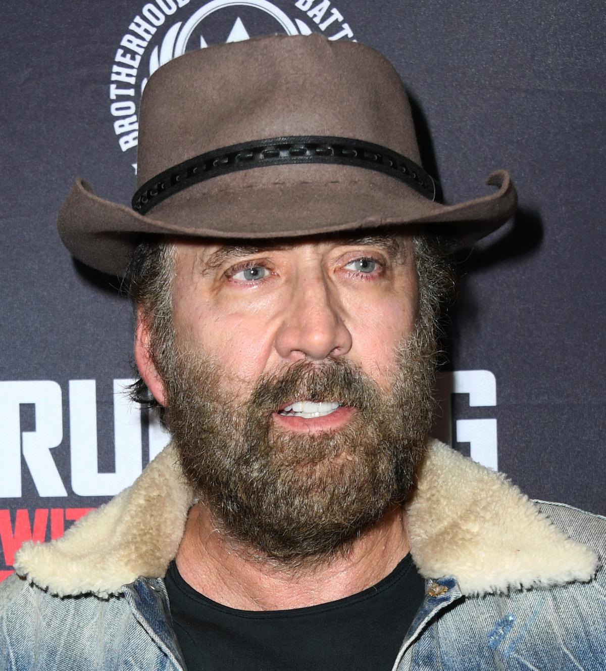 Nicolas Cage in a cowboy hat