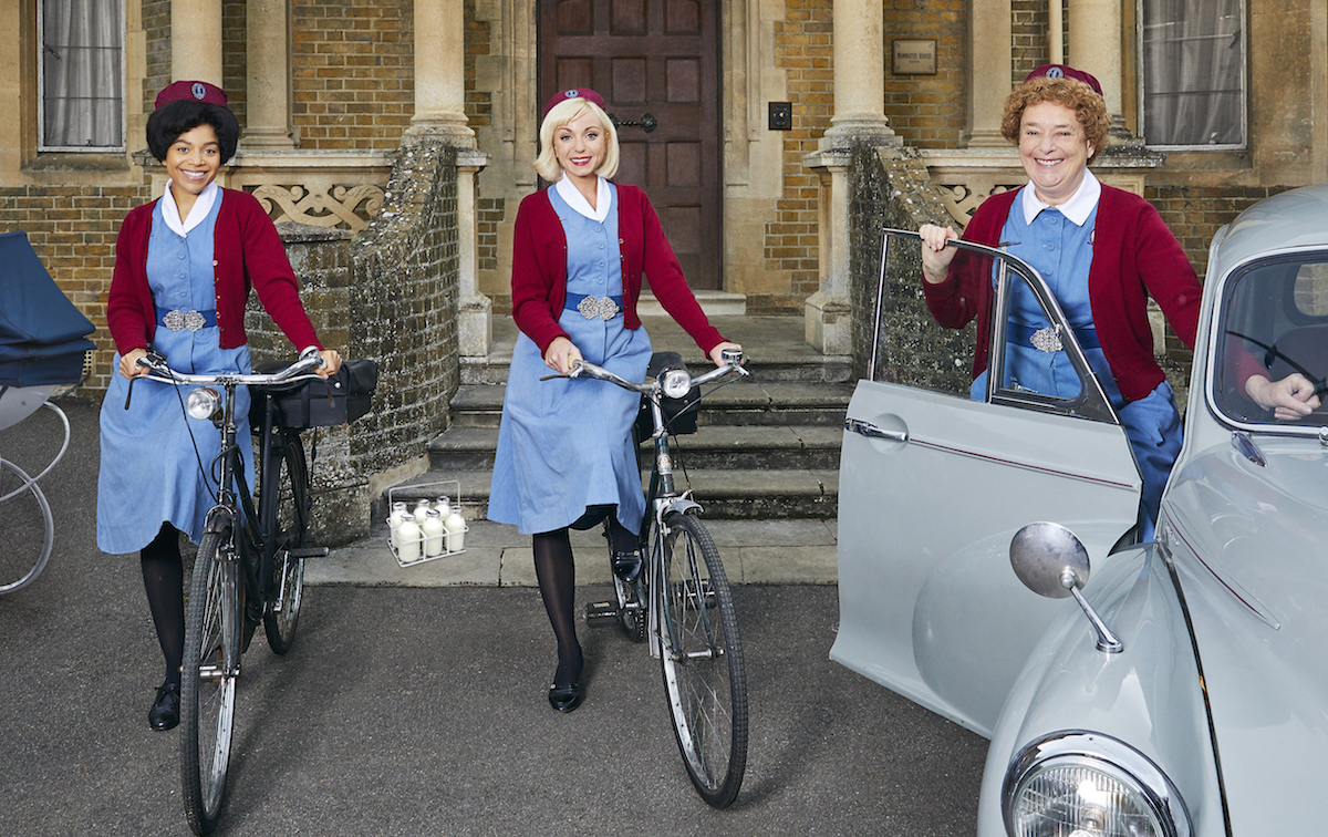 Midwives on bicycles in 'Call the Midwife' Season 10