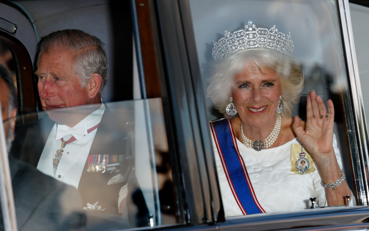 Prince Charles and Camilla Parker Bowles – the future King and Queen Consort -- attend a State Banquet at Buckingham Palace on day 1 of the Spanish State Visit on July 12, 2017 in London, England