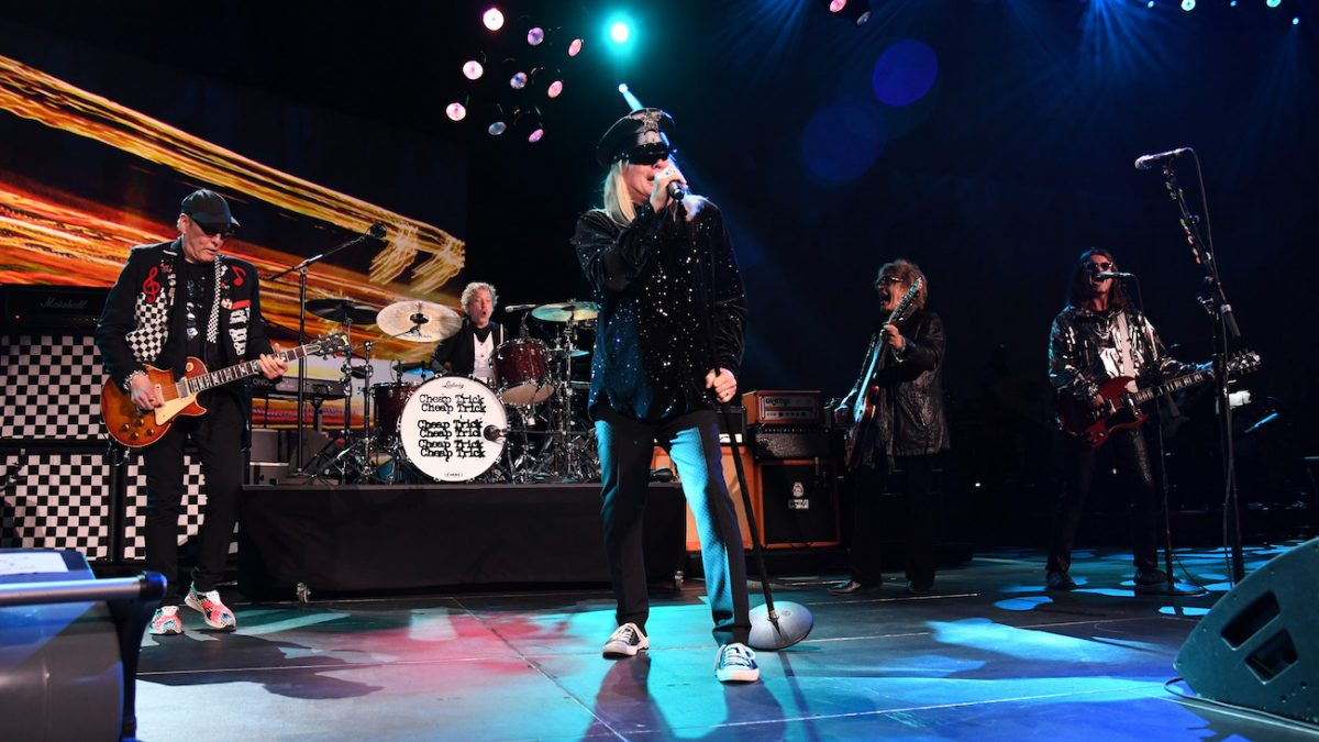 Cheap Trick performing at MusiCares Person of the Year honoring Aerosmith.