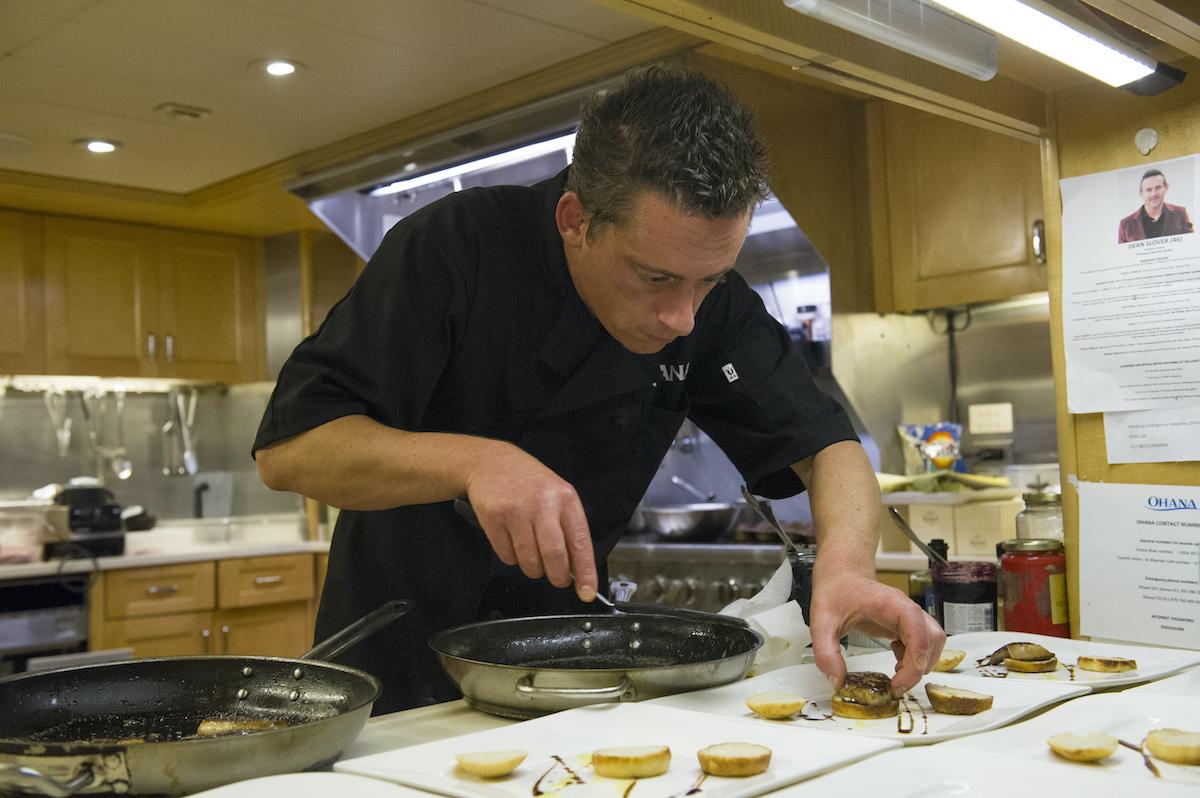 Chef Ben Robinson plates dinner on Below Deck