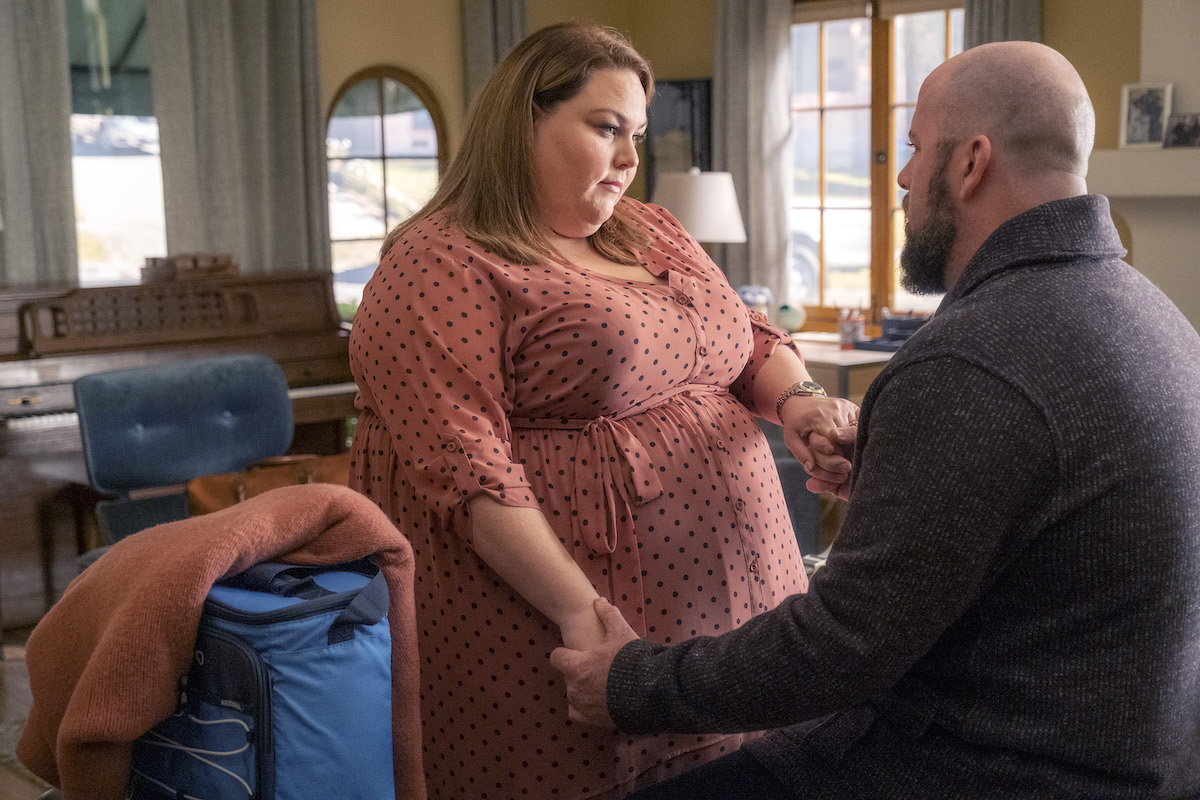 This Is Us cast members Chrissy Metz and Chris Sullivan as Kate and Toby