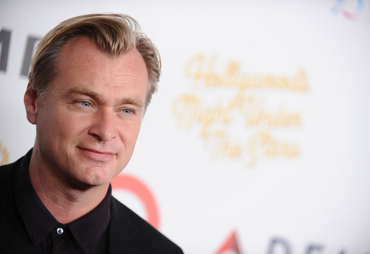 Christopher Nolan on the red carpet