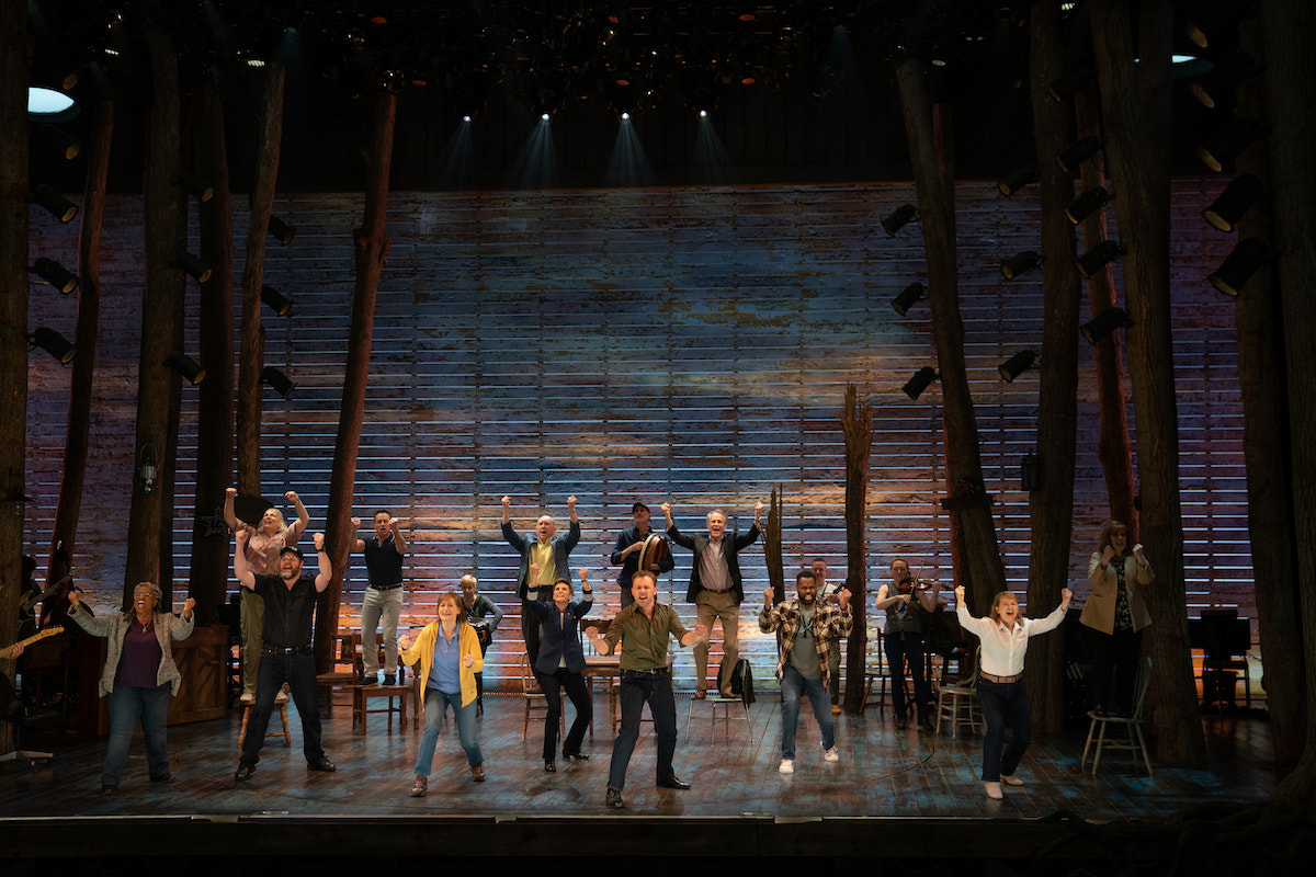 The 'Come From Away' film ensemble. The Broadway musical tells the true story of how the Canadian town of Gander rushed to the aid of 7,000 people who found themselves stranded in their town after their planes had to land there when the American airspace was closed on Sept. 11, 2001.