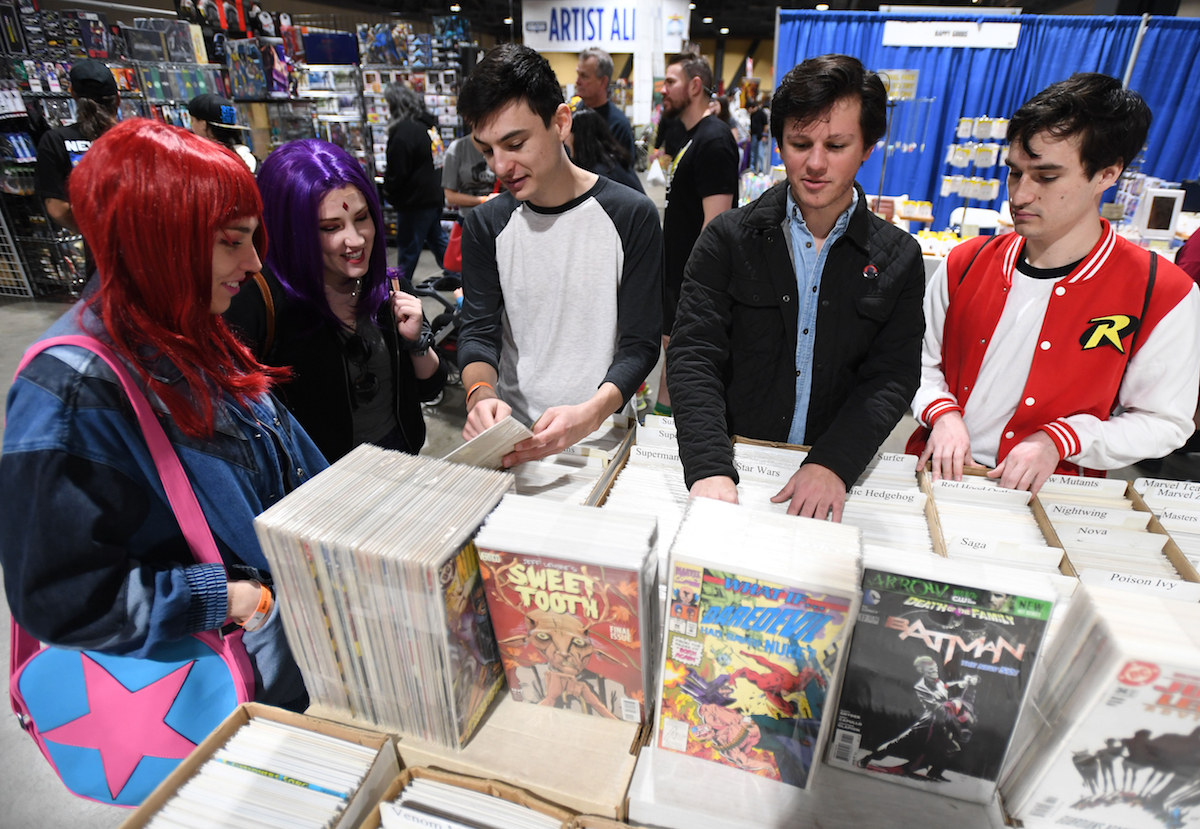Comic books for sale at the Long Beach Comics Expo