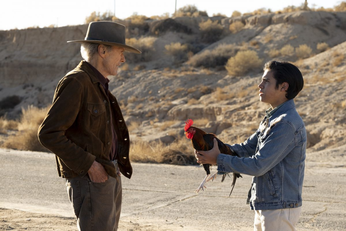 Cry Macho: Eduardo Minett hands Clint Eastwood his rooster