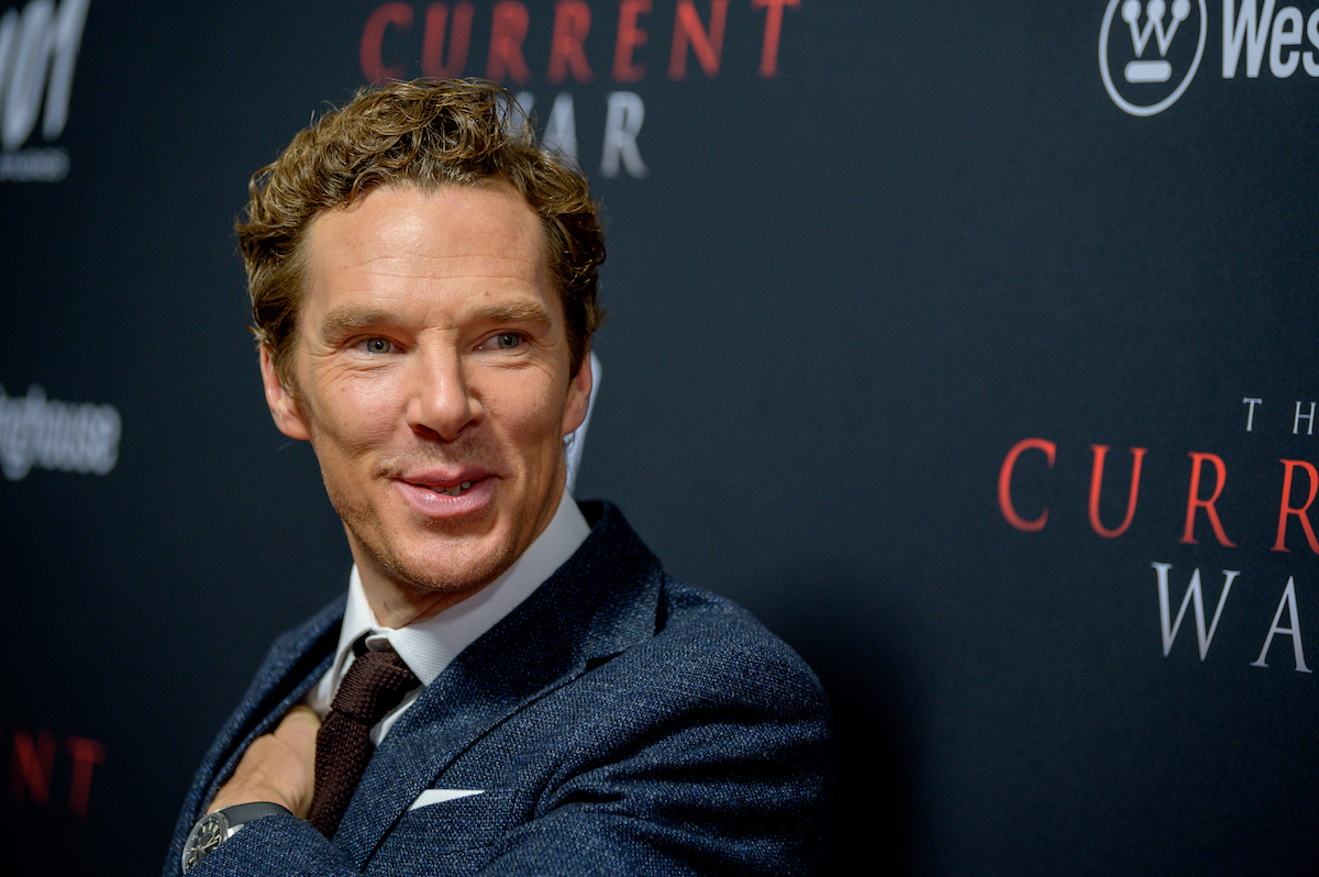 Benedict Cumberbatch in a suit on the red carpet