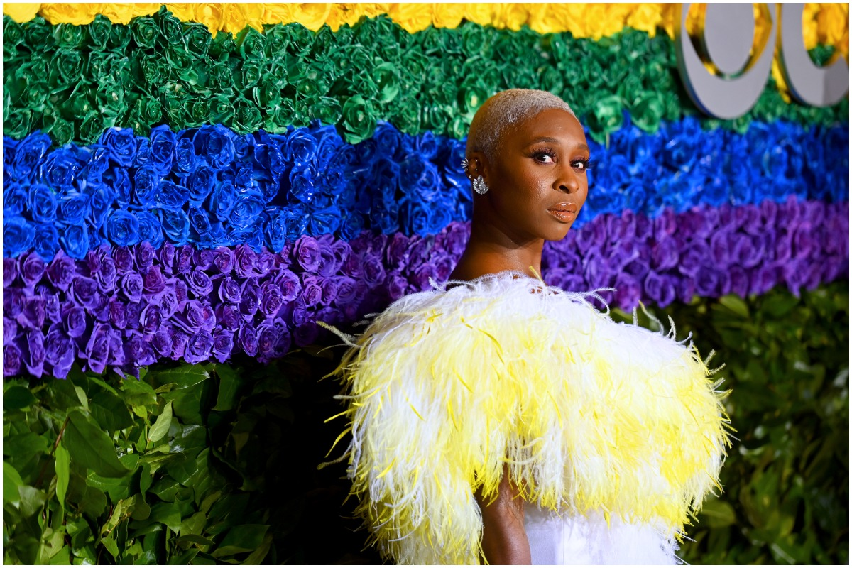 Emmys nominee Cynthia Erivo looking away from the camera at a red carpet event.