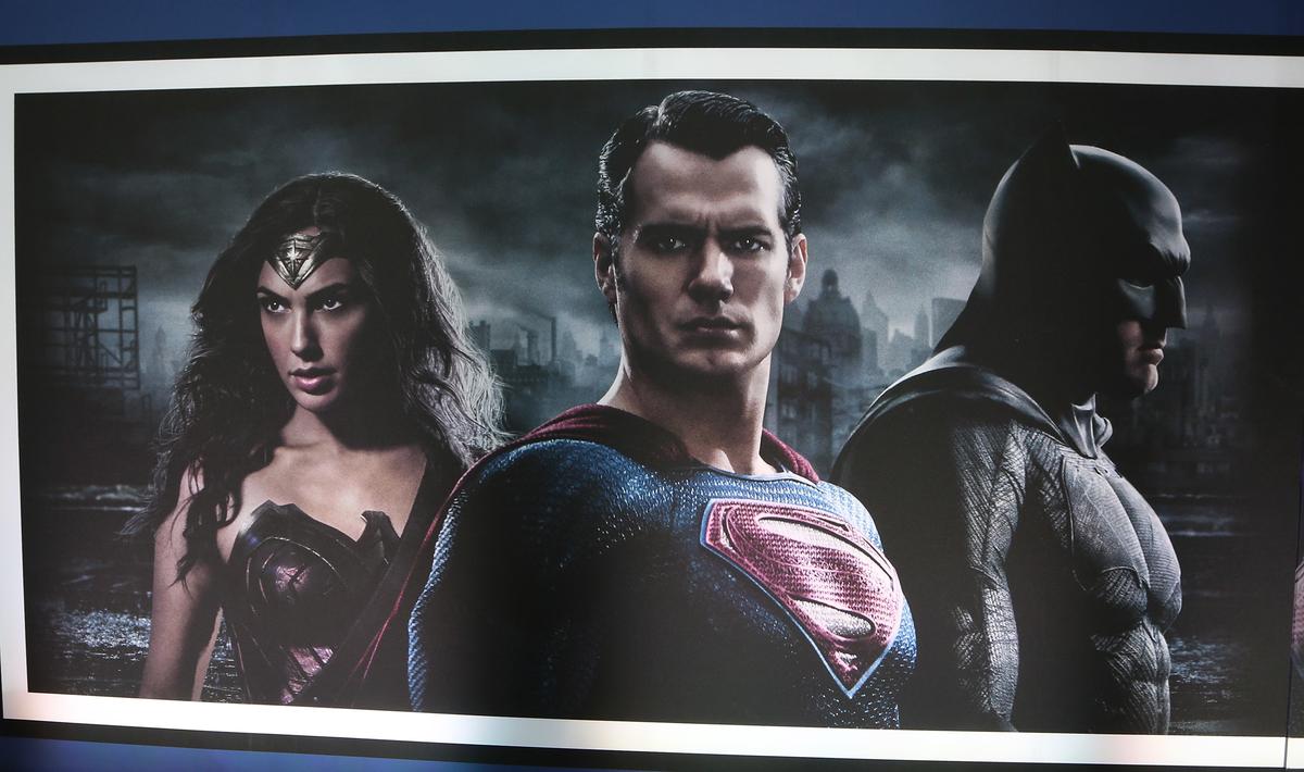 Henry Cavill, Gal Gadot, and Ben Affleck in 'Batman V Superman' poster