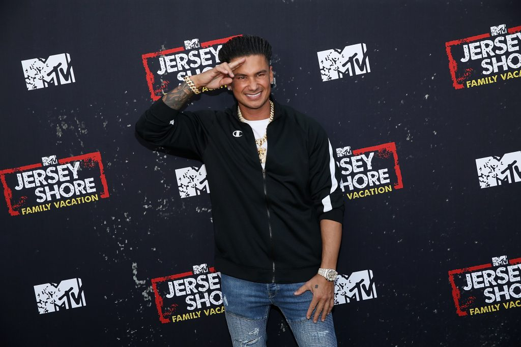 """Pauly DelVecchio attends the """"Jersey Shore Family Vacation"""" Global Premiere at HYDE Sunset in 2018"""