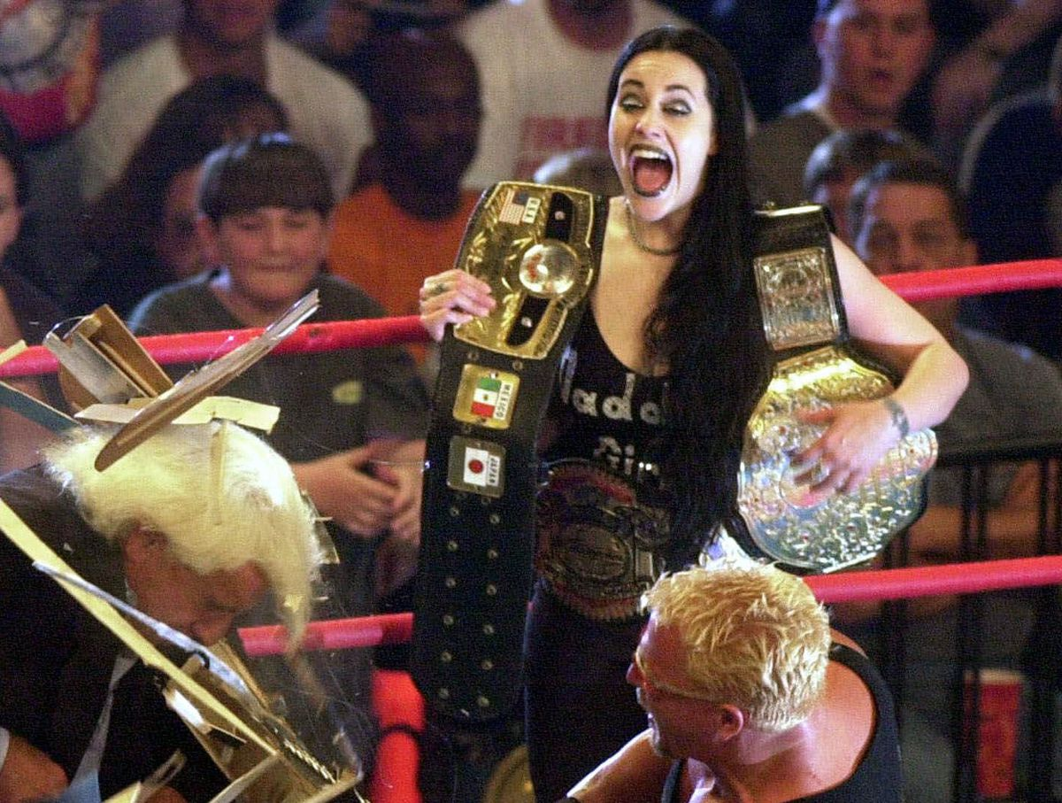 Daffney Unger, seen here in a screenshot of a wrestling match, has died