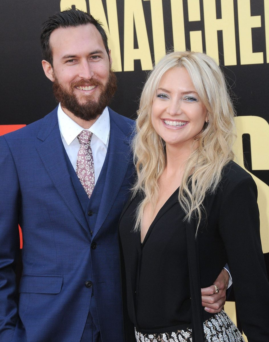 Danny Fujikawa and Kate Hudson attending the premiere of the 2017 film 'Snatched'
