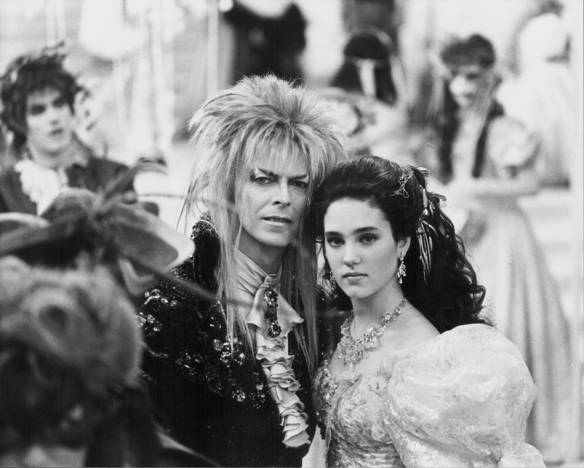 David Bowie and Jennifer Connelly in ballroom attire