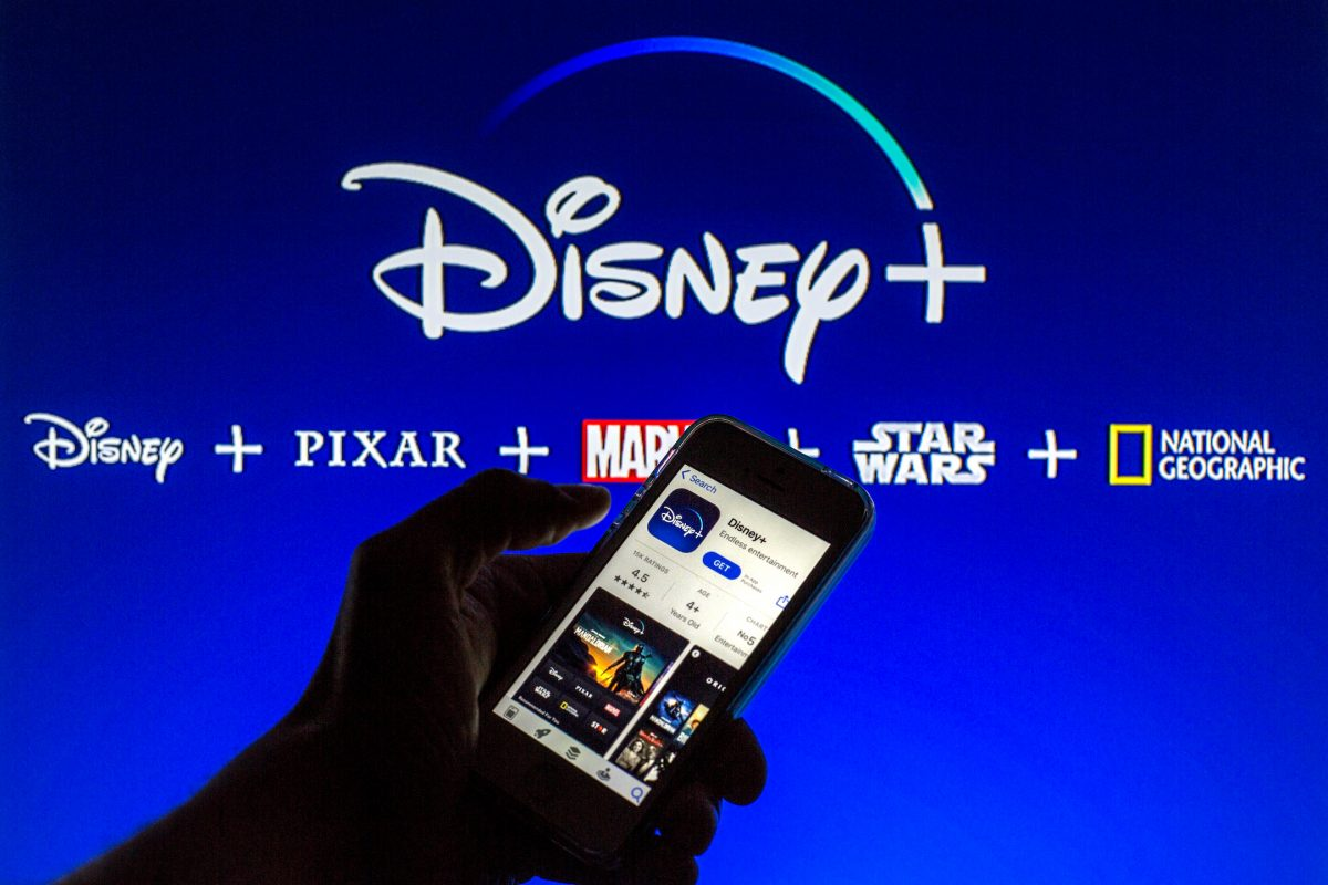 Disney+ logo shows the collection of Disney+ day genres and movies