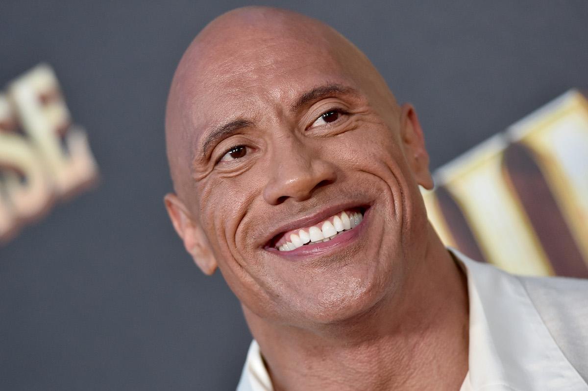 Dwayne Johnson smiling in close up