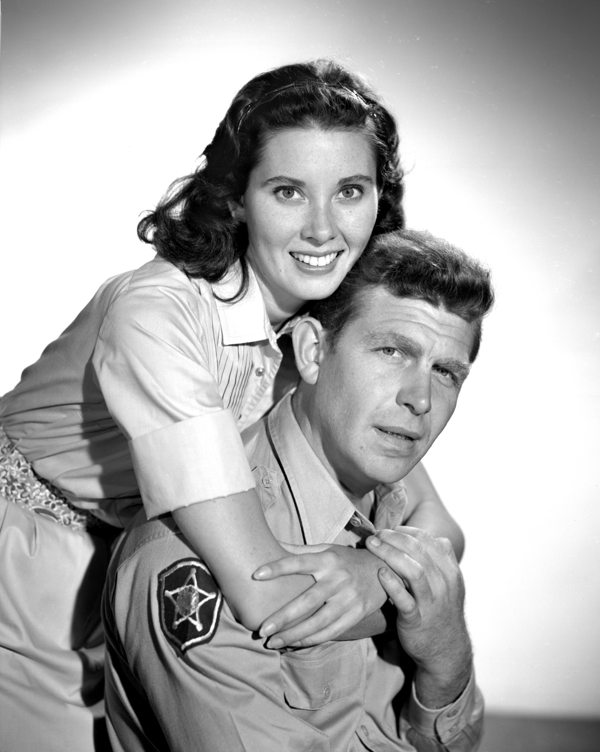 Actors Elinor Donahue and Andy Griffith on 'The Andy Griffith Show'