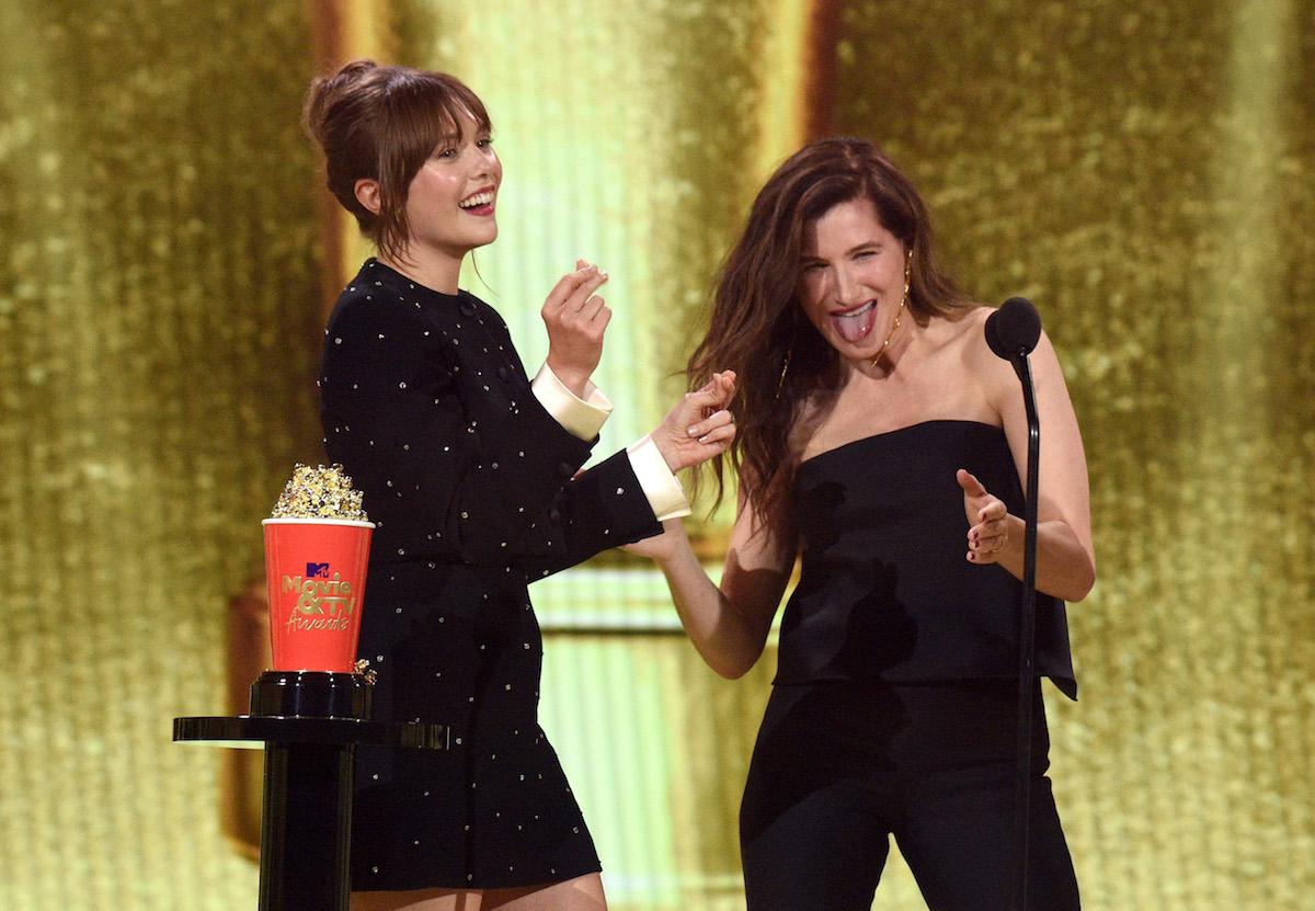 Elizabeth Olsen and Kathryn Hahn of 'WandaVision' at the 2021 MTV Movie & TV Awards