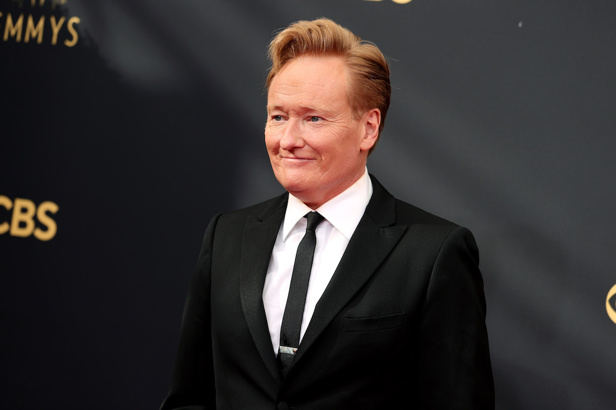 Conan O'Brien in a tux at the 73rd annual Emmy Awards