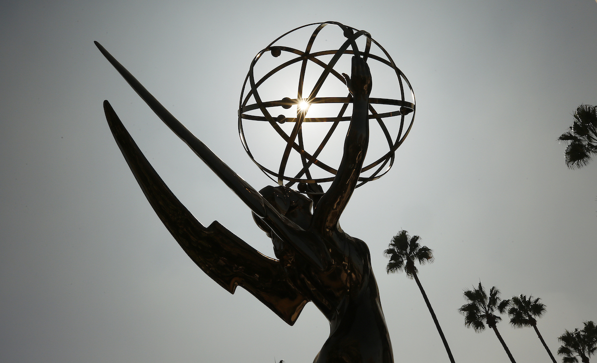The silhouette of the Emmy Award statue