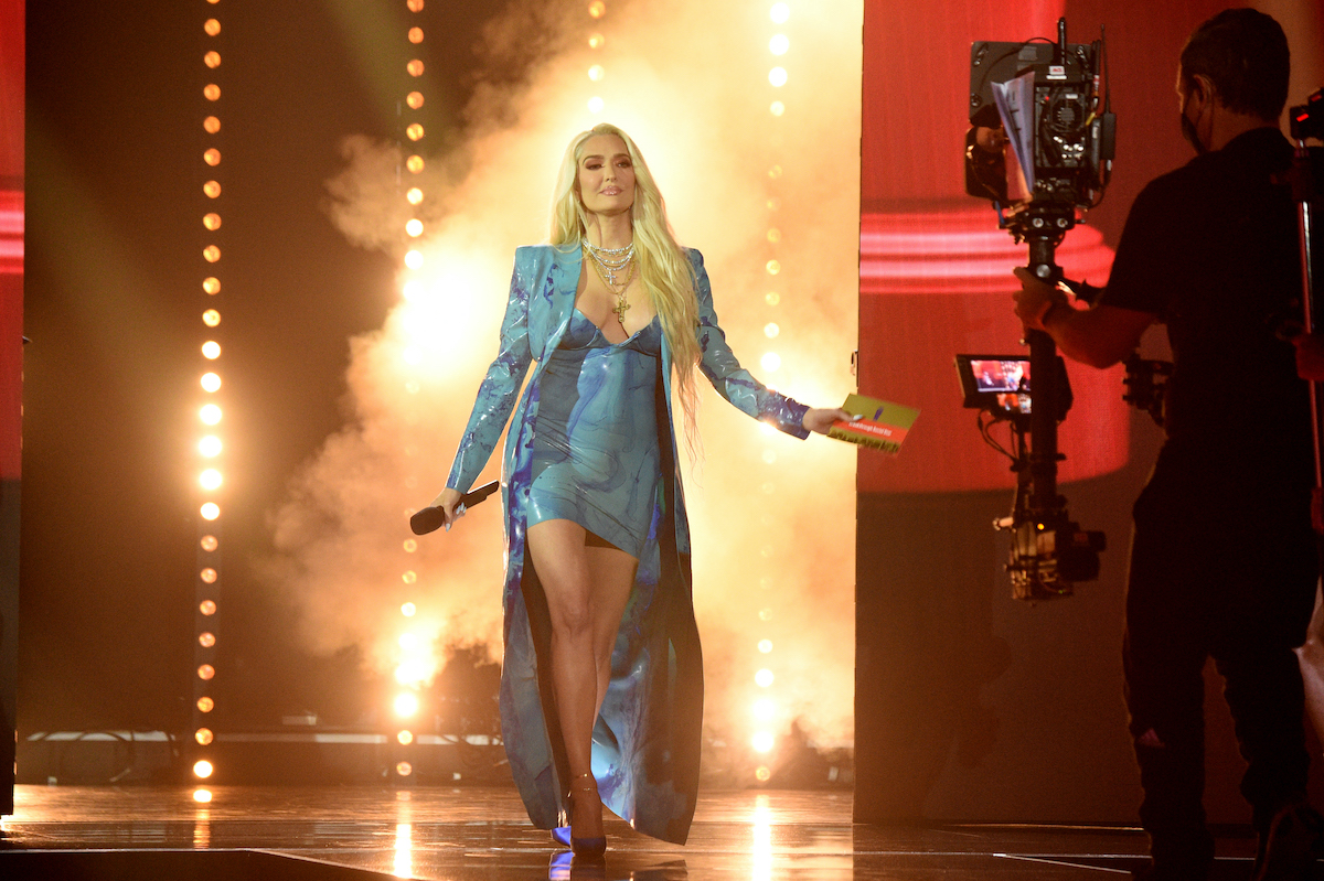 Erika Jayne from The Real Housewives of Beverly Hills hits the stage during the 2021 MTV Movie & TV Awards: UNSCRIPTED