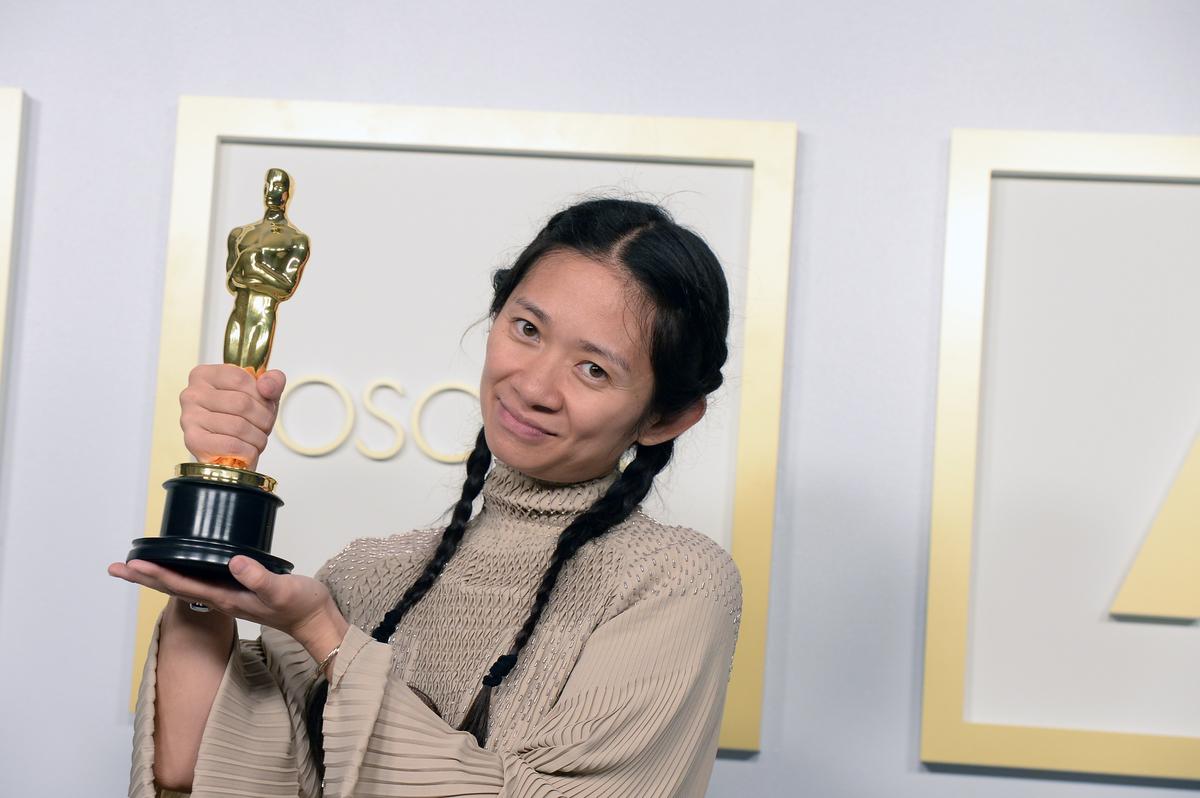 'Eternals' director Chloé Zhao winning her Oscar