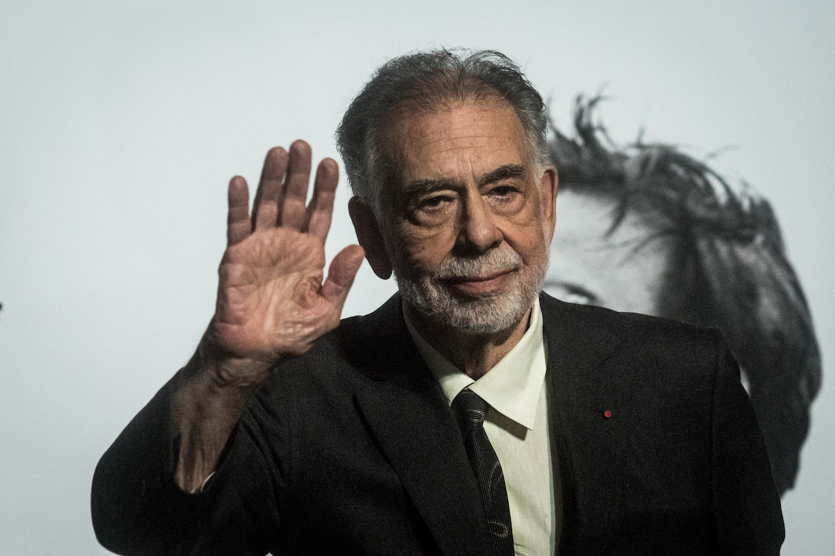 Francis Ford Coppola waving to the camera