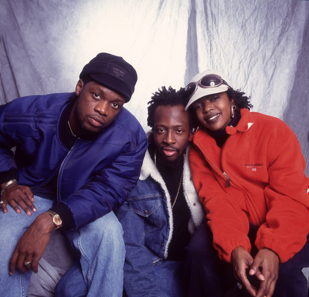 The Fugees as they pose backstage at the Allstate Arena, Rosemont, Illinois, September 2, 1997.