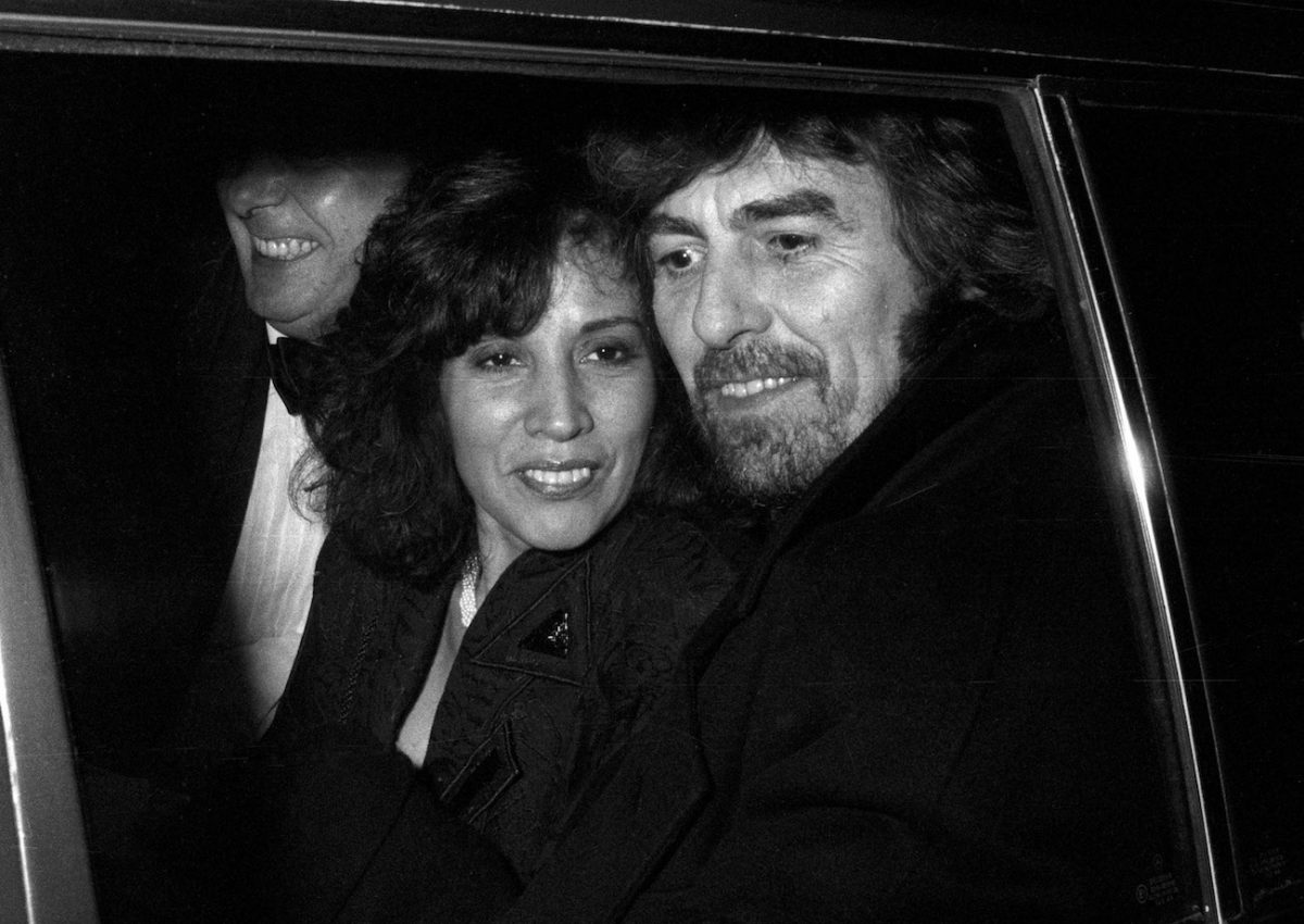George Harrison and his wife Olivia out to dinner in 1990.