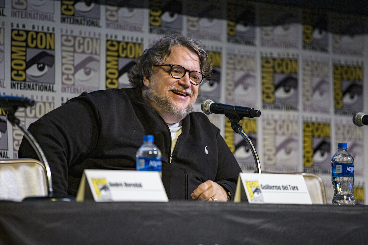 """Producer Guillermo del Toro of """"Scary Stories To Tell In The Dark"""" speaks on stage at Horton Grand Theater on July 20, 2019 in San Diego, California.  His next film is 'Nightmare Alley'."""