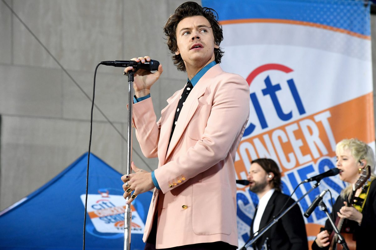 Harry Styles performs onstage during Citi Concert Series on TODAY Presents Harry Styles at Rockefeller Plaza