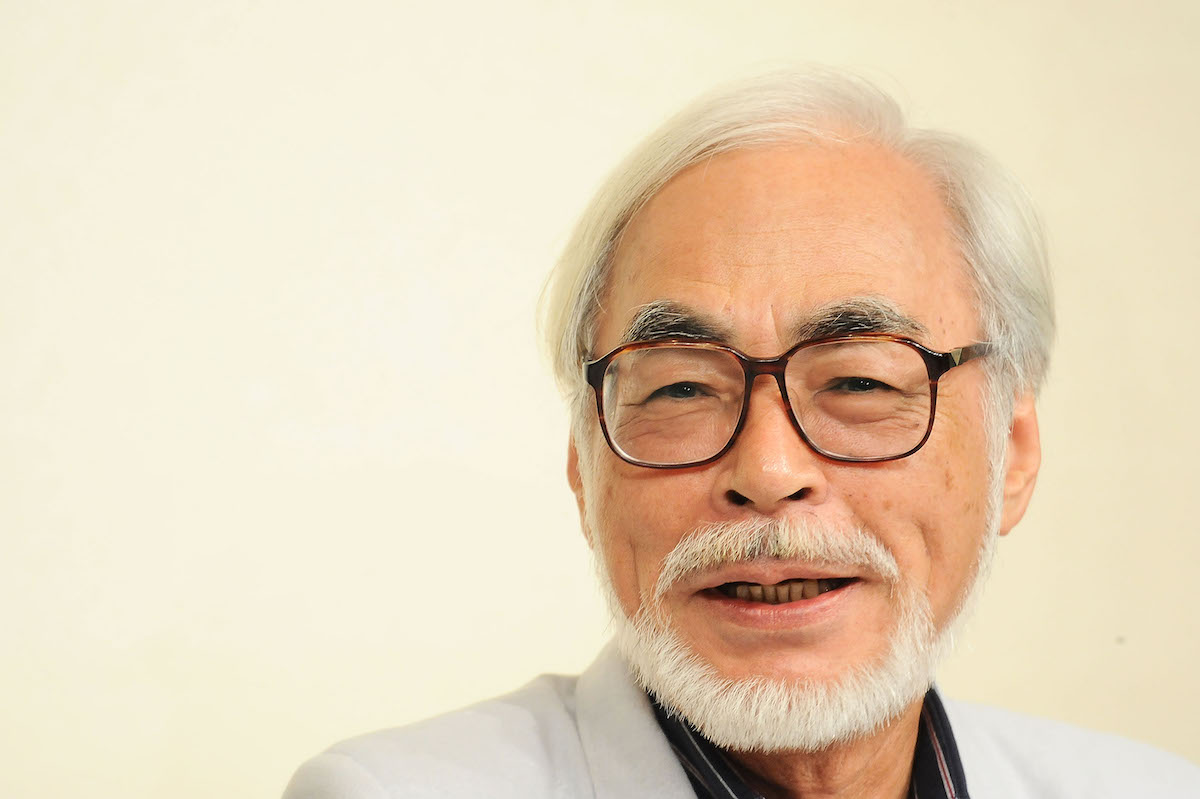 Hayao Miyazaki white background