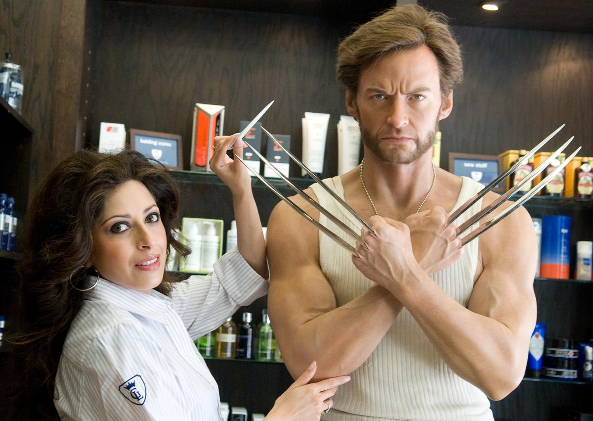 A wax figure of Hugh Jackman as Wolverine