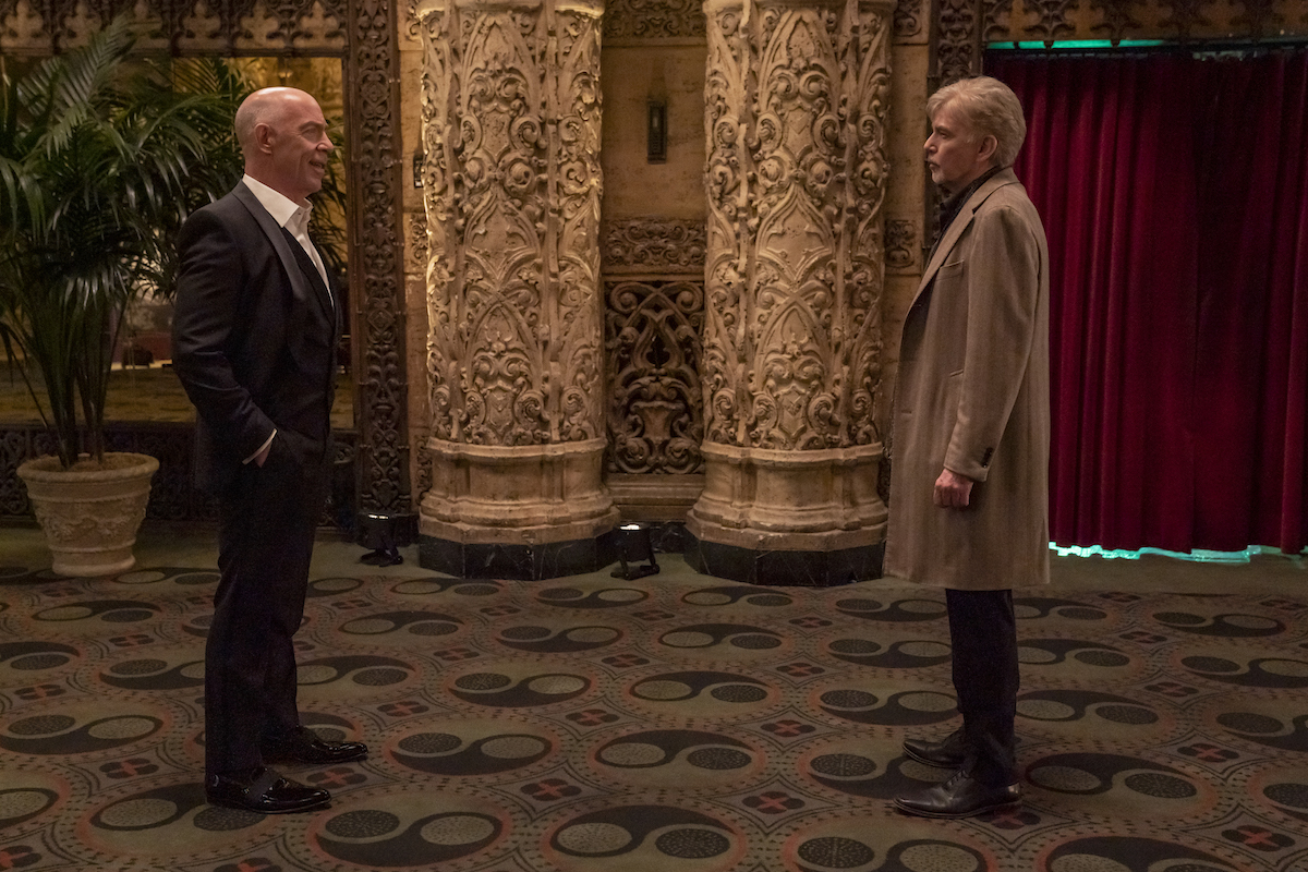 JK Simmons and Billy Bob Thornton facing each other in 'Goliath' Season 4
