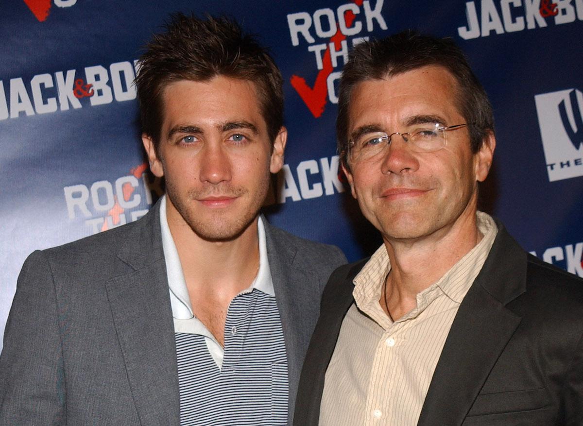 Jake Gyllenhaal, star of the film The Guilty and Stephen Gyllenhaal