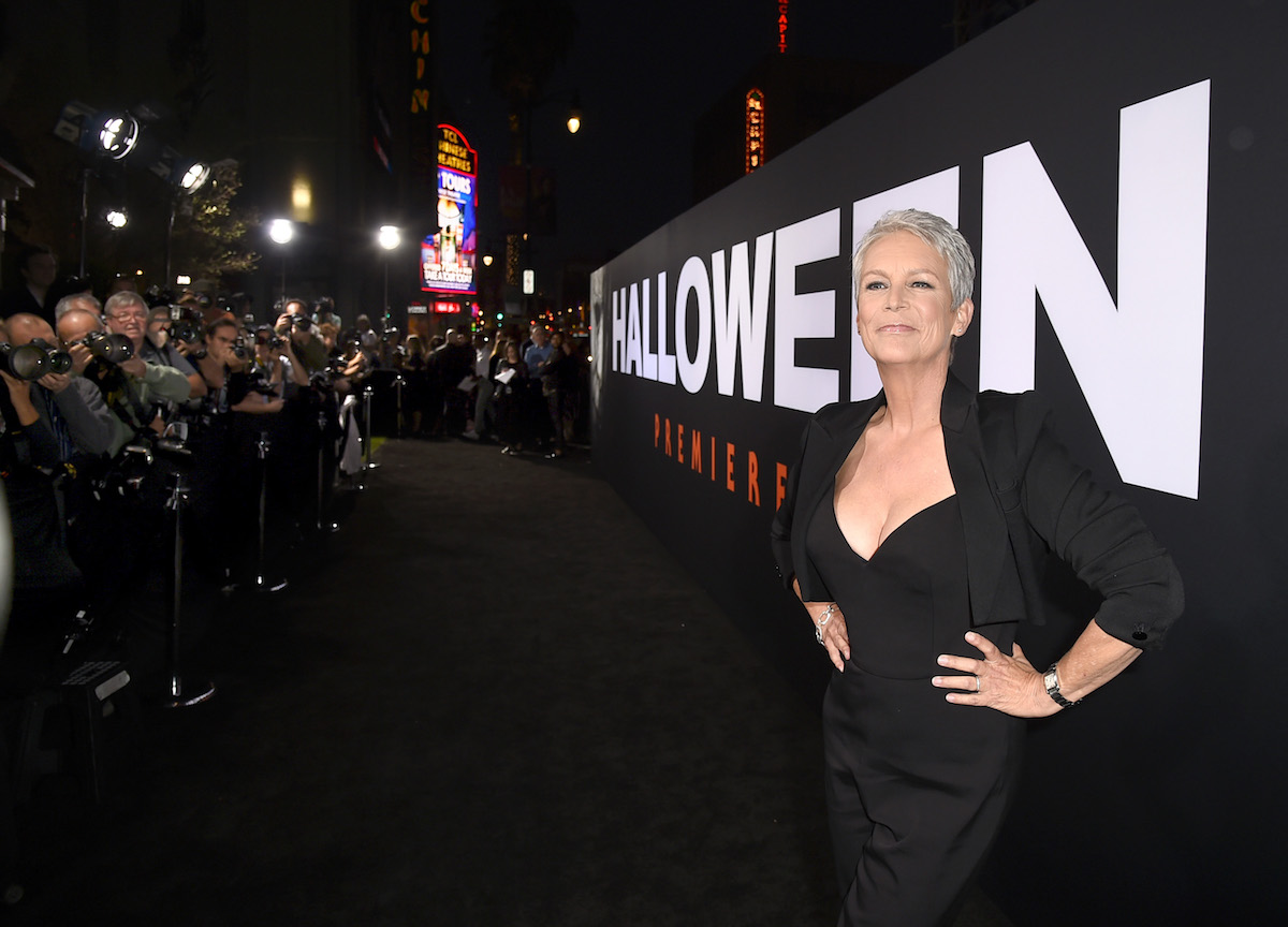 Jamie Lee Curtis at the premiere of 2018's 'Halloween'