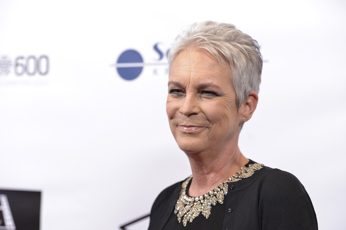 Jamie Lee Curtis with white background
