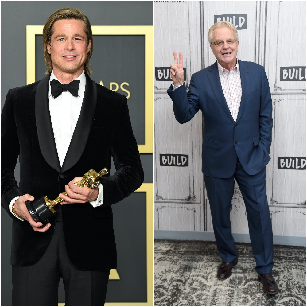 Jerry Springer jokes about how he'd want Brad Pitt to play him in a movie