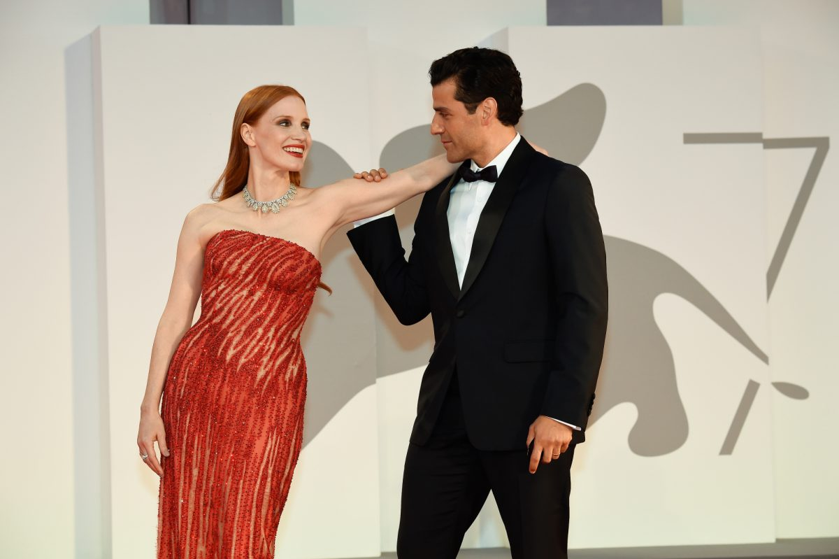 Jessica Chastain and Oscar Isaac at the 'Scenes From a Marriage' premiere at the Venice International Film Festival