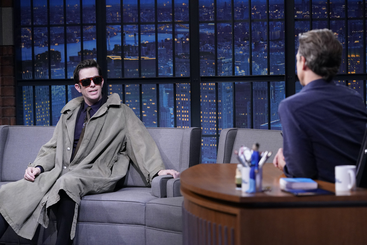 John Mulaney makes his infamous appearance before rehab on Late Night with Seth Meyers on November 24, 2020