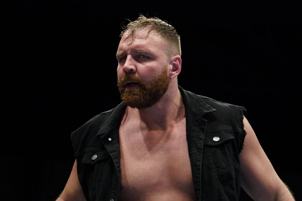 AEW wrestler Jon Moxley competes at the 2020 New Japan Pro-Wrestling New Year's Dash.