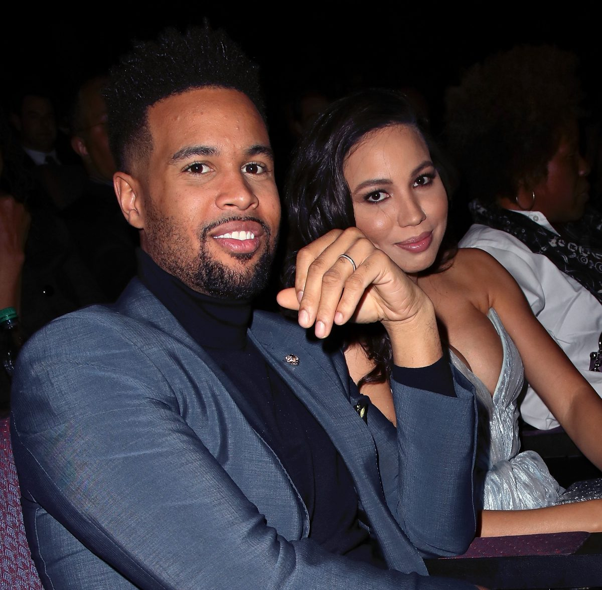 Josiah Bell and 'Lovecraft Country' star Jurnee Bell attending an event together as a married couple.