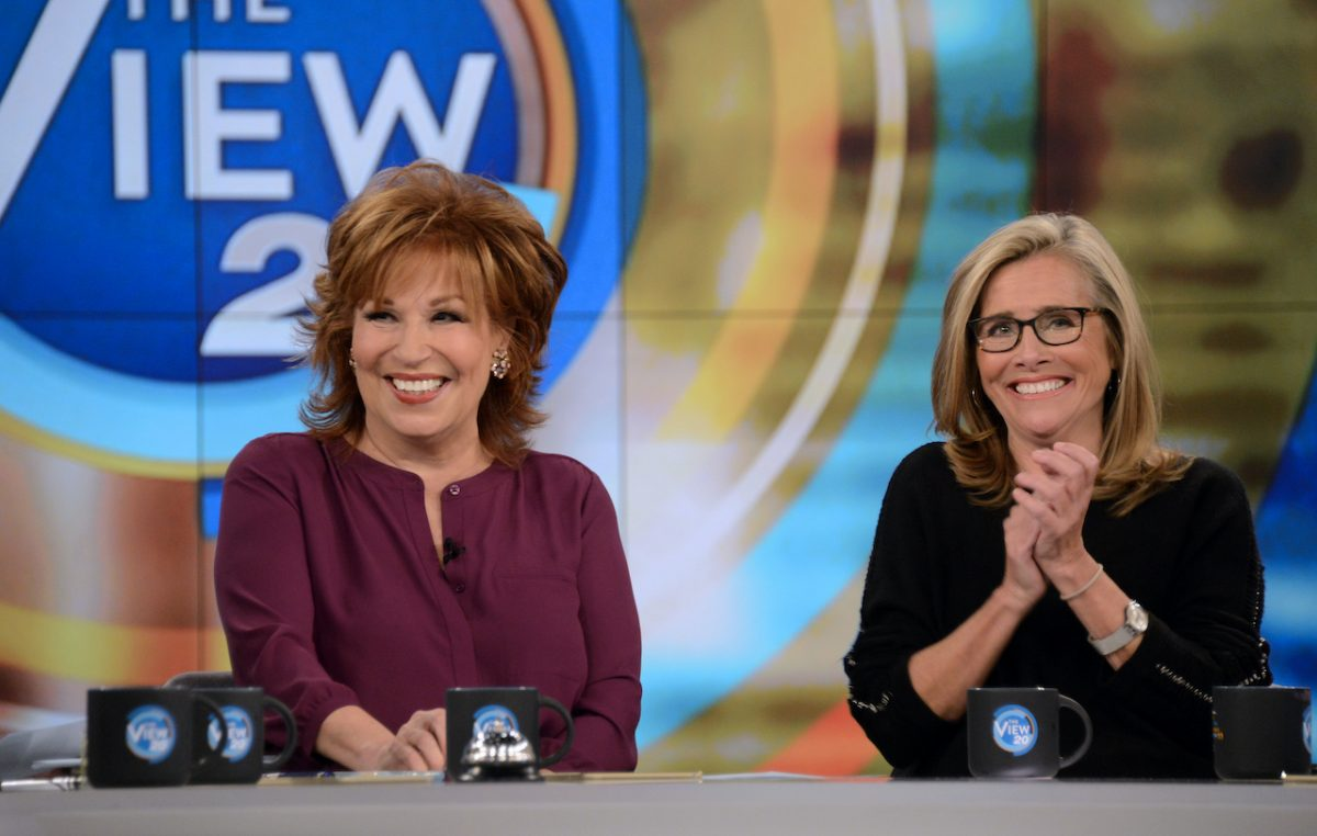 Joy Behar and Meredith Vieira on the set of 'The View'