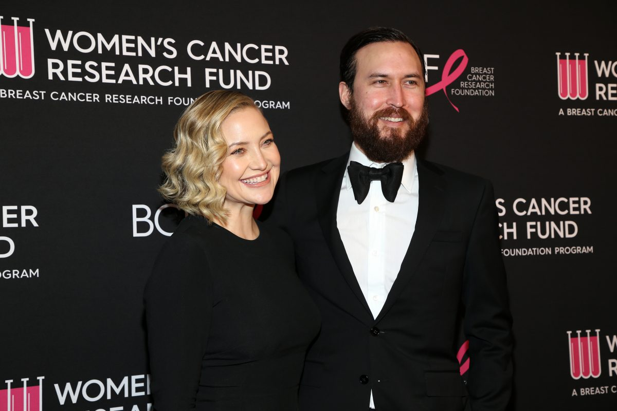 Kate Hudson dressed in a black outfit and Danny Fujikawa sporting a tuxedo at The Women's Cancer Research Fund