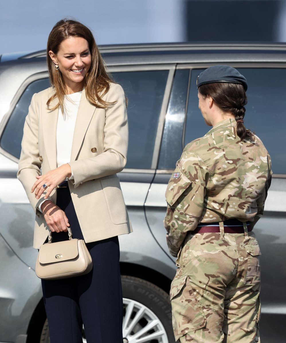 Kate Middleton returns to royal duties to meet those who supported the UK's evacuation of civilians from Afghanistan, at RAF Brize Norton