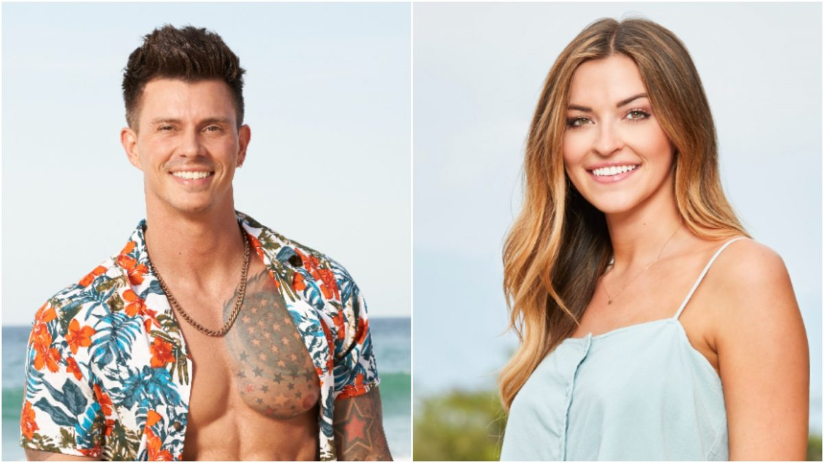 Headshot of Kenny Braasch and Tia Booth from 'Bachelor in Paradise' 2021