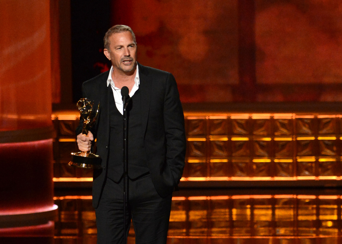 Kevin Costner accepts his award onstage during the 64th Primetime Emmy Awards at Nokia Theatre L.A. Live on September 23, 2012 in Los Angeles, California. He will sit out the 2021 Emmys with no nominations for 'Yellowstone'