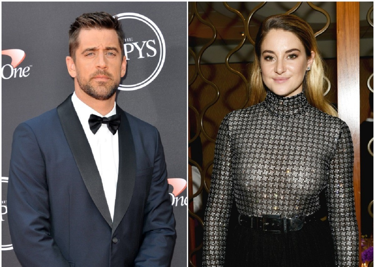 (L) Aaron Rodgers at ESPYS, (R) Shailene Woodley at fashion event