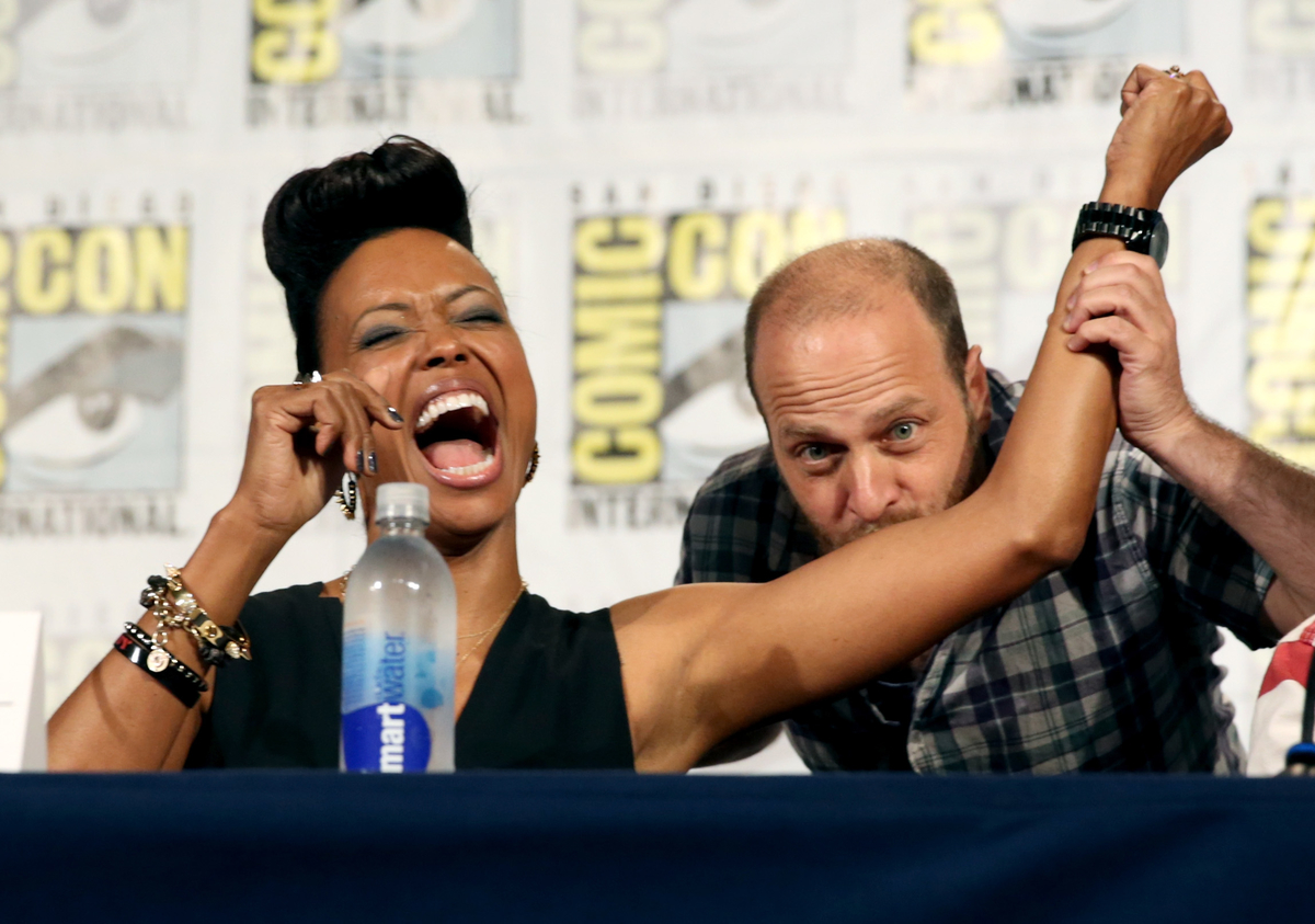 Aisha Tyler and H. Jon Benjamin at Comic-Con International 2013
