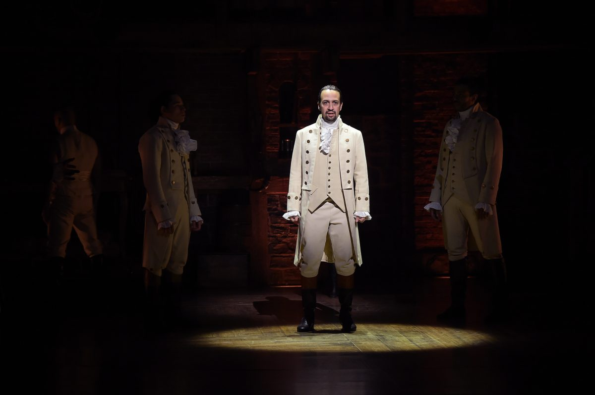 Lin Manuel Miranda under the spotlight in his musical Hamilton streaming on Disney+ and is a nominee for the Emmys 2021