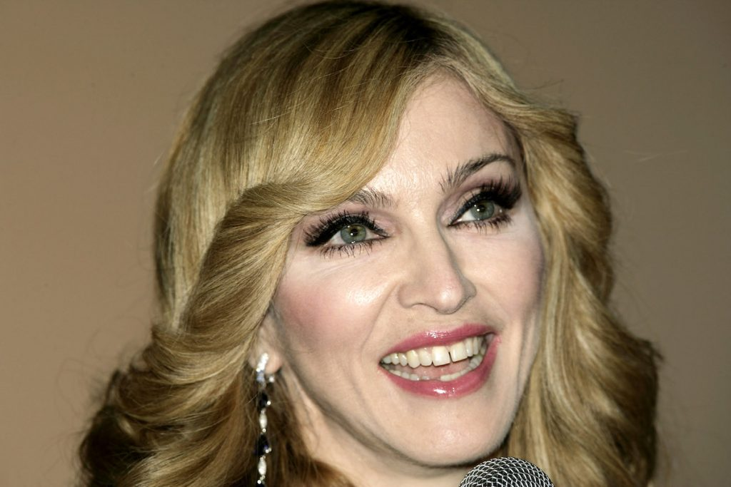 """Madonna arrives at the UK TV documentary premiere of her new confessional Channel 4 documentary """"I'm Going To Tell You A Secret"""""""